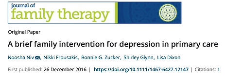 A brief family intervention for depressi