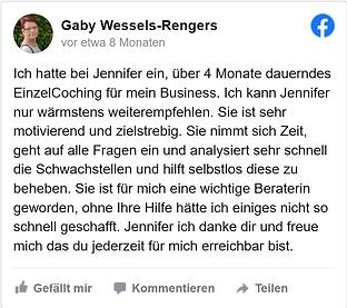 Gaby Wessels-Rengers Feedback