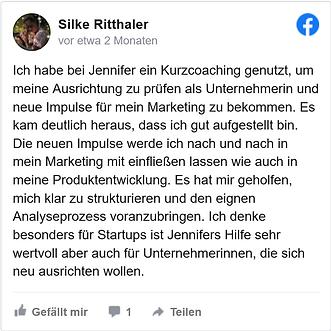Silke Ritthaler Feedback