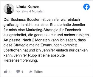 Linda Kunze Feedback