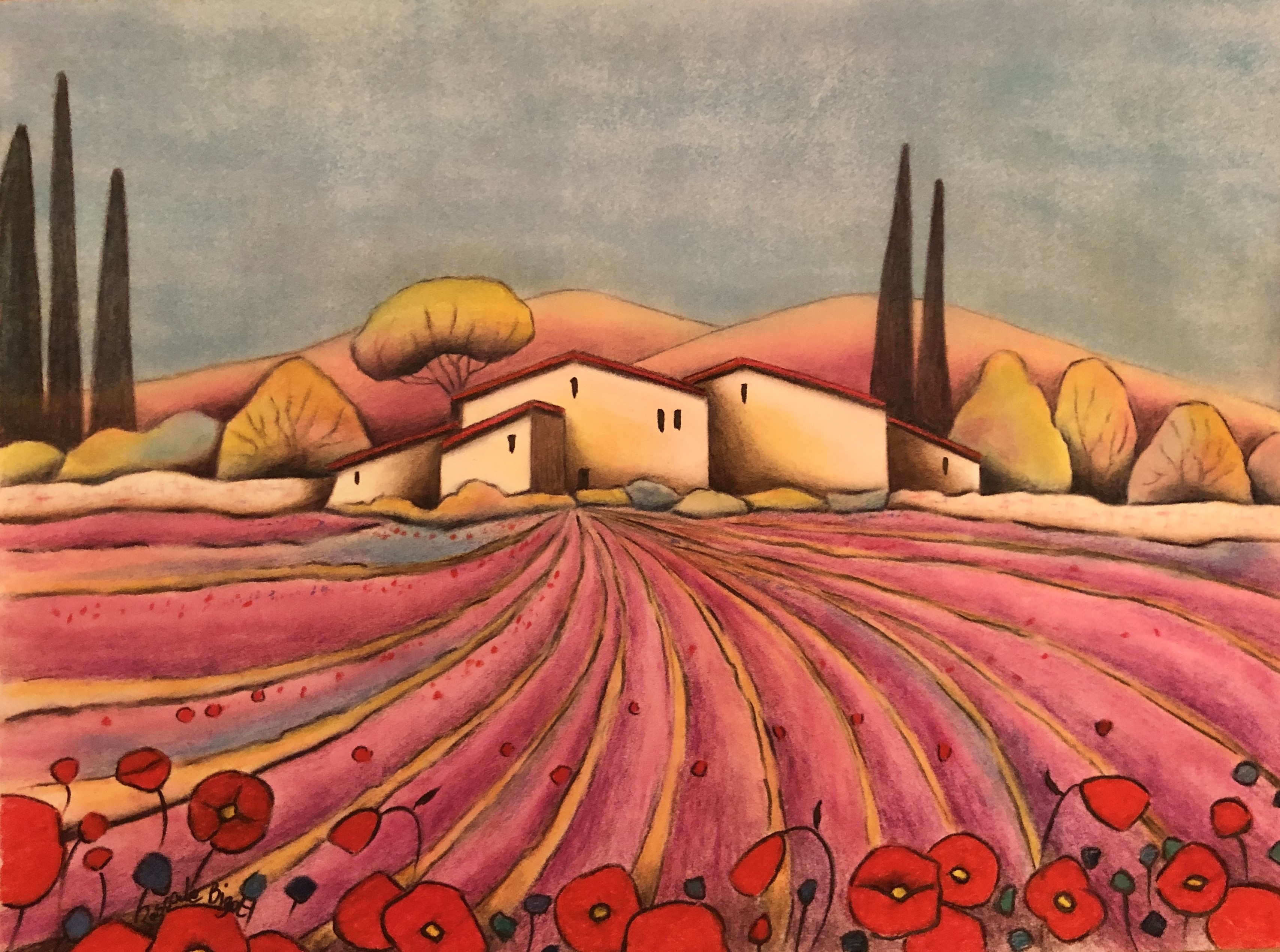 Village en Provence (£175)
