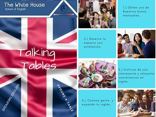 Bono 4 horas TalkingTables. Descuento exclusivo alumnos de TWH.