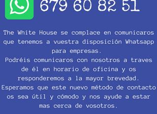 Nuevo Whatsapp de Empresa para The White House