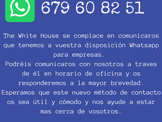 Nuevo Whatsapp de Empresa para The White House