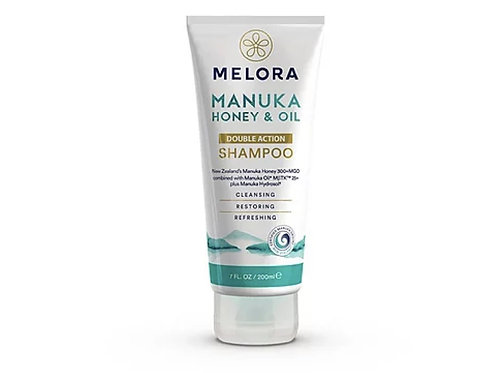 MELORA 雙重洗髮露 - 麥蘆卡蜂蜜、麥蘆卡精油 200ml MELORA Double Action Manuka Shampoo