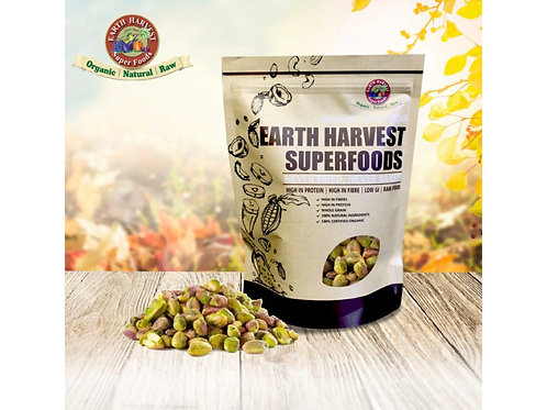 有機生機有殼開心果 (無麩質)海鹽 Earth Harvest Superfoods Organic & Raw Pistachios (Gluten Free