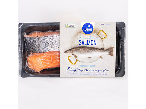 澳洲有皮海鱒魚柳280g/包   Aus. CLAMMS SEAFOOD Ocean Trout Portions Skin-On, 280/pack