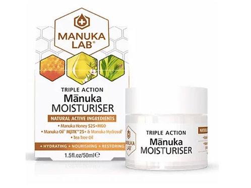 Manuka Lab 保濕乳霜 - 麥蘆卡蜂蜜、麥蘆卡精油、茶樹精油 50ml MANUKA TRIPLE ACTION MOISTURISER