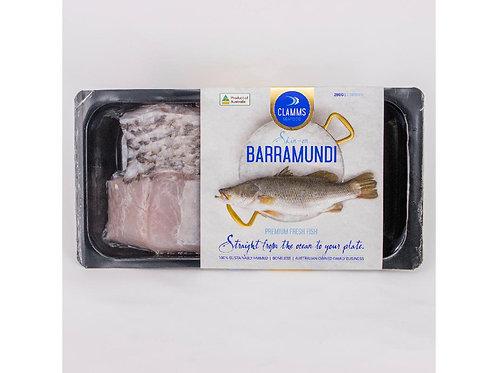 澳洲有皮盲鰽魚柳280g/包   Aus. CLAMMS SEAFOOD Barramundi Portions Skin-On, 280g/pack