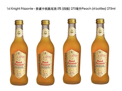 1st Knight Frizzante麥盧卡桃雞尾酒 5% (四瓶) 275毫升 Cocktail Manuka Peach 5% (4 bottles)
