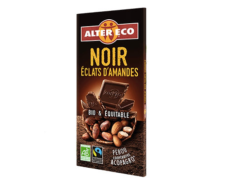 杏仁黑巧克力(100克) Dark Chocolate with Almond (100g)