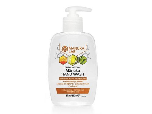 Manuka Lab 洗手液 - 麥蘆卡蜂蜜、麥蘆卡精油、茶樹精油 250ml MANUKA TRIPLE ACTION HAND WASH