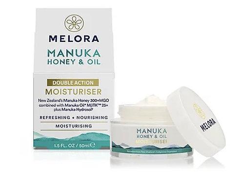 MELORA 雙重保濕乳霜 - 麥蘆卡蜂蜜、麥蘆卡精油 50ml MELORA Double Action Manuka Moisturiser