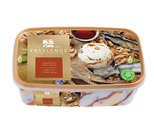 Ekselence核桃楓糖漿家庭裝雪糕(1公升)   Ekselence Ice-Cream Walnut with Marple Syrup, 1L