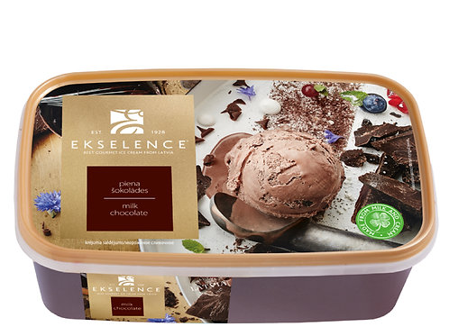 Ekselence朱古力家庭裝雪糕(1公升)   Ekselence Ice-Cream Milk Chocolate 1L