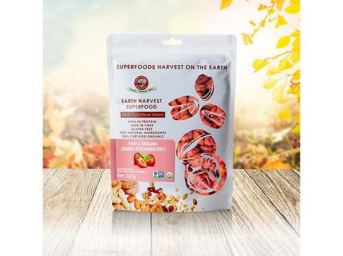 Earth Harvest Superfoods, 有機生機士多啤梨乾, 227克   Raw Organic Dried Strawberry, 227g