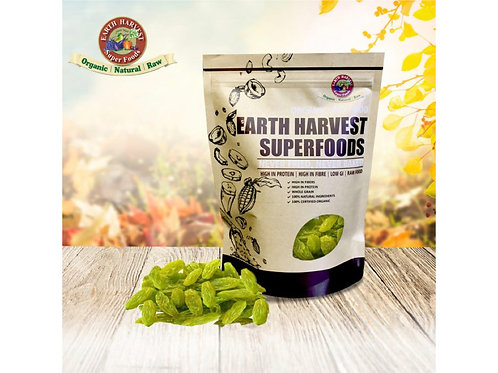 有機生機青提子乾 (無麩質) 200g Earth Harvest Superfoods Raw & Organic Green Raisins (Gluten