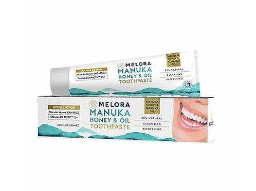 MELORA 強效修護牙膏 - 麥蘆卡蜂蜜、麥蘆卡精油 100ml MELORA Double Action Manuka Toothpaste