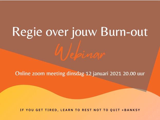 Burn-out webinar 12 januari  20.00 uur