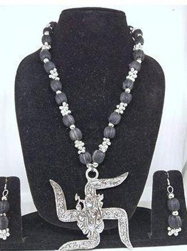 German silver Temple jewellery set