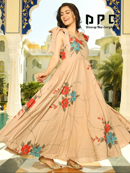 ONE PIECE GOWN in DISCHARGE PRINT