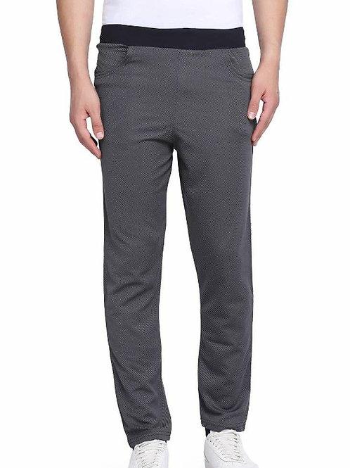 Grey polyester regular track pants