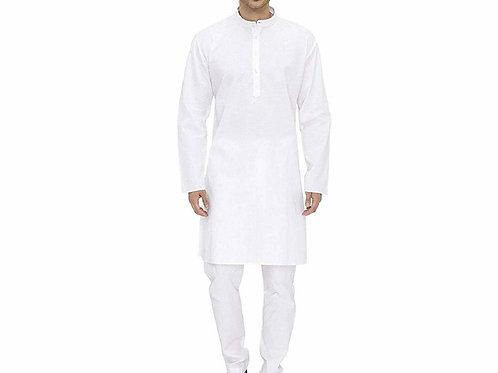 Collection Of White Cotton Kurta Pyjama Sets
