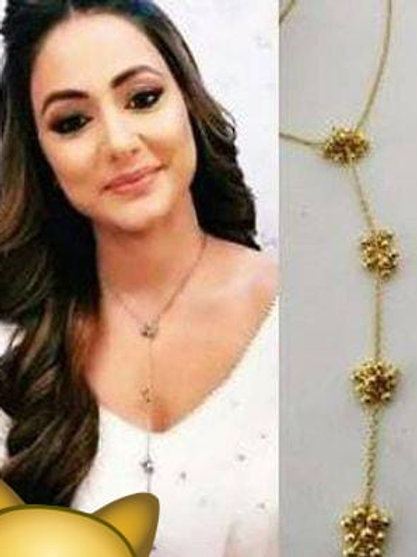 Trendy designer statement hina khan necklace