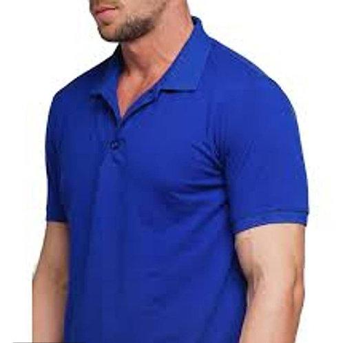 Blue poly cotton polos Tshirt