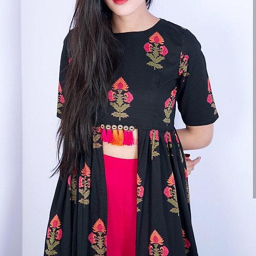 Rutba khan top and plazoo set