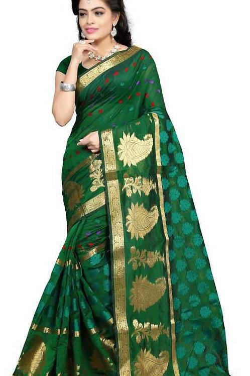 Banarasi cotton slik saree