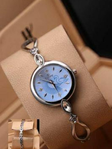 Round Dial With Metal Watches For Women
