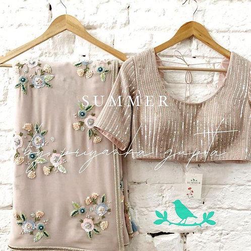 beautiful  Designer Saree  on premium Gorgette Ferbric saree