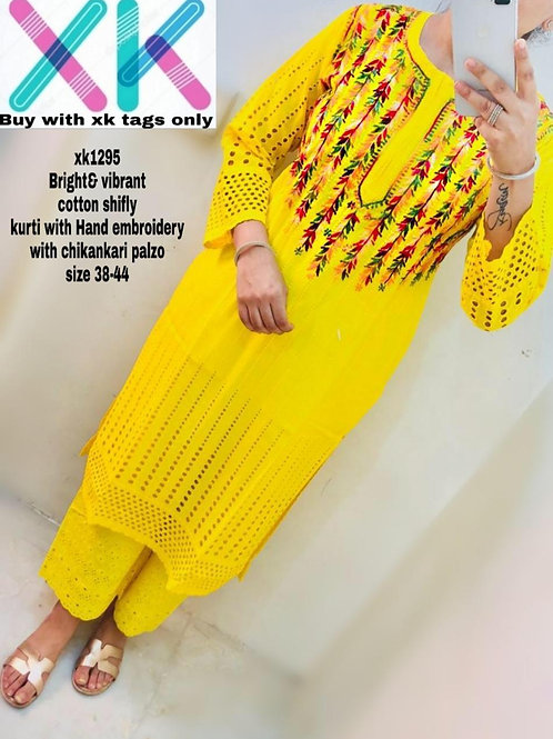 vibrant cotton shifly kurti