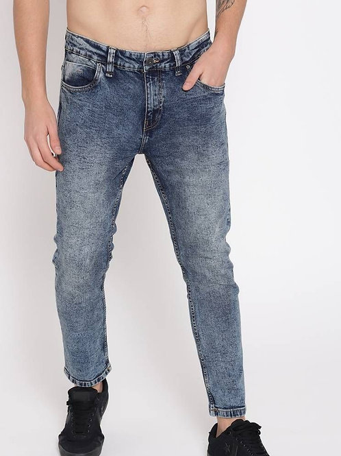 Acid wash slim fit jeans