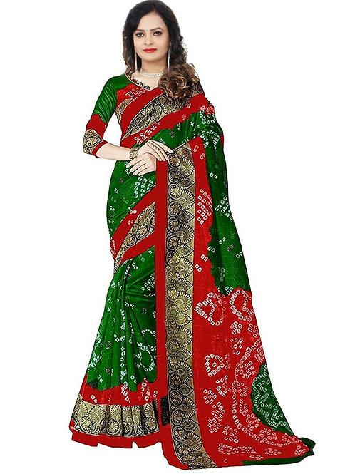 Women's Bandhani Design Printed Bhagalpuri Saree