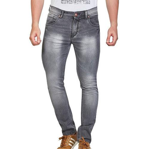 Men's Cotton Spandex Faded Regular Fit Jeans