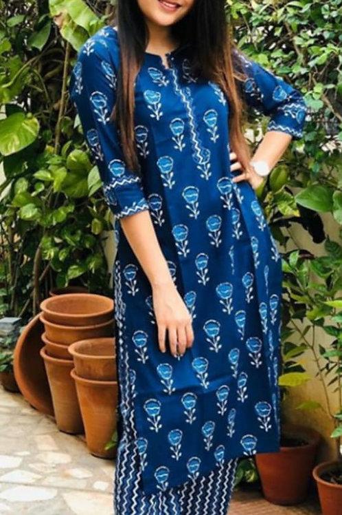 Stylish cotton kurti with pant