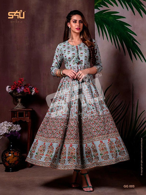 Rayan febric embroidery work  Gown