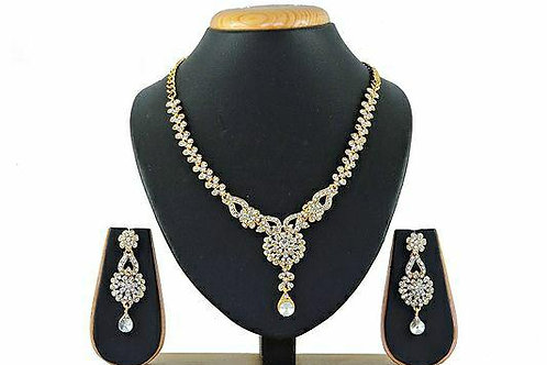 Gold Plated Bridal Choker Jewellery Set