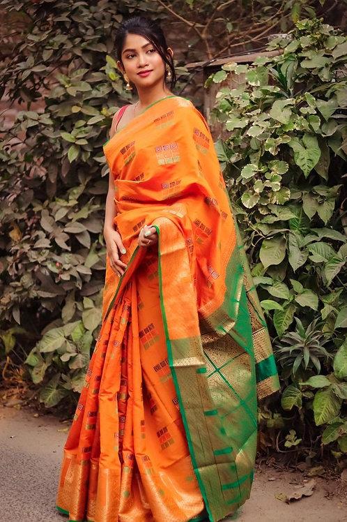 Beautiful Art Slik Saree