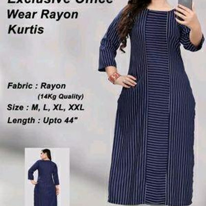 Rayon Lining Printed A-Line Women's Kurtas