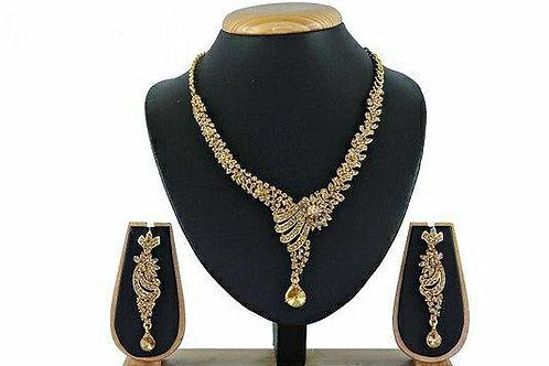 Elegantly Crafted Designer AD Jewellery Set