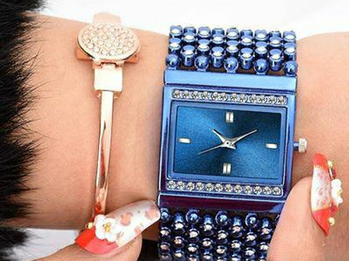 Attractive Studded Bracelet Watches For Women!!