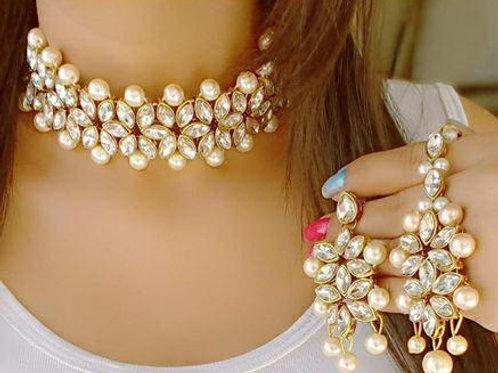 Designer pearl nd kundan necklace set vol 2