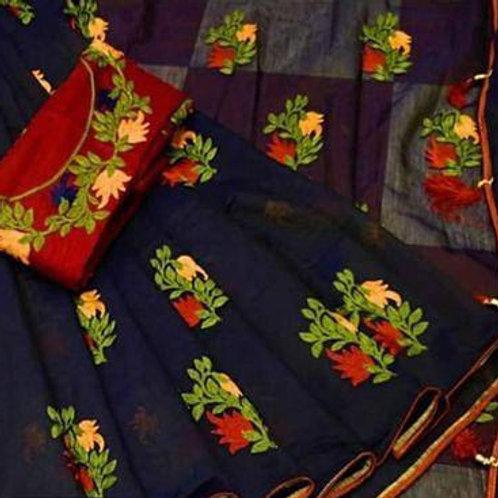 Chanderi saree with blouse