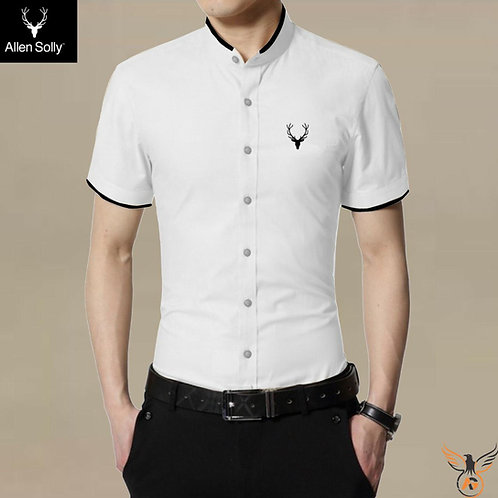 AllenSolly Mandarin Collar Shirt