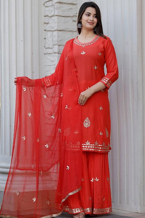 💃 *Traditional and Stylish Rajasthani Gota Patti Work Kurti -