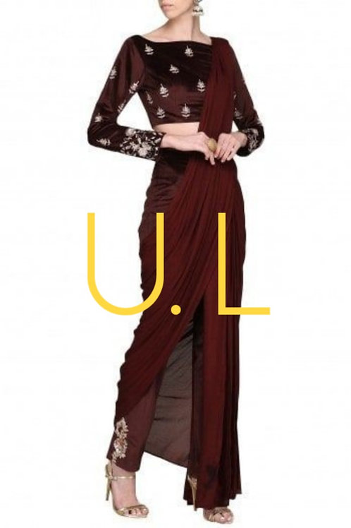Beautiful embroided kaftan with flaired skirt