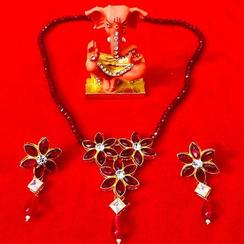 Beautiful Jadau flower Pendal  Set